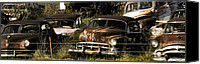 Hot Ford Canvas Prints - Junk Yard Canvas Print by Thomas Bomstad