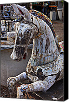 Carrousel Art Canvas Prints - Junkyard Horse Canvas Print by Garry Gay