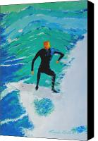 Wind Surfing Art Painting Canvas Prints - Just Another Ride Canvas Print by Ralph Mantia Sr