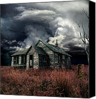 "\\\""haunted House\\\\\\\"" Canvas Prints - Just before the Storm Canvas Print by Aimelle"