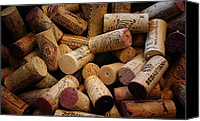 Corks Canvas Prints - Just Corks Canvas Print by Edward Betz