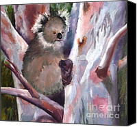 Koala Canvas Prints - Just Hanging About Canvas Print by Nadine Kelly