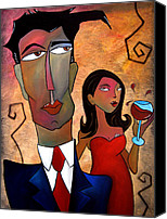 Oil Wine Canvas Prints - Just Noticed Canvas Print by Tom Fedro - Fidostudio