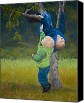 Hanging Pastels Canvas Prints - Just Out of Reach Canvas Print by James Geddes