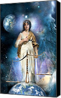 Justice Painting Canvas Prints - Justice Canvas Print by Gloria Jean