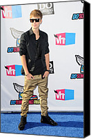At Arrivals Canvas Prints - Justin Bieber At Arrivals For 2011 Vh1 Canvas Print by Everett