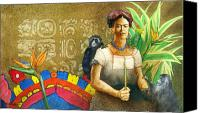 Women Canvas Prints - K is for Kahlo... Canvas Print by Will Bullas