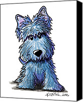 Scottie Dog Canvas Prints - K9 Keanu Scottie Terrier Canvas Print by Kim Niles