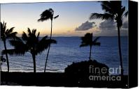 Beach Scenery Canvas Prints - Kaanapali Beach Maui Canvas Print by Rosy Kueng