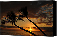 Lahaina Canvas Prints - Kaanapali Beach Sunset Canvas Print by Kelly Wade