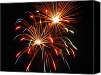 4th July Canvas Prints - Kaboom 3 Canvas Print by Cynthia Lassiter