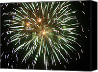 4th July Canvas Prints - Kaboom 4 Canvas Print by Cynthia Lassiter