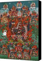 Thangka Canvas Prints - Kagye Tsasum Tersar Canvas Print by Sergey Noskov