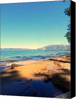 Lake Canvas Prints - Kaimu Canvas Print by Leah Moore