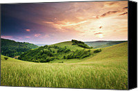 Mountain Scene Canvas Prints - Kaiserstuhl Sunset Canvas Print by Photo by Steffen Egly