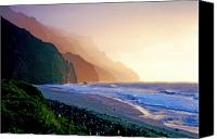 Kalalau Canvas Prints - Kalalau Beach Sunset Canvas Print by Kevin Smith