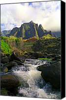Kalalau Canvas Prints - Kalalau Cathedral Canvas Print by Kevin Smith