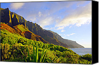 Kalalau Canvas Prints - Kalalau Mountains Kauai Canvas Print by Kevin Smith