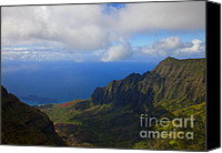 Kalalau Canvas Prints - Kalalau Storm Clearing Canvas Print by Mike  Dawson