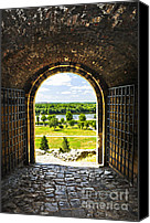 Fort Canvas Prints - Kalemegdan fortress in Belgrade Canvas Print by Elena Elisseeva