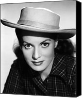 1950s Portraits Canvas Prints - Kangaroo, Maureen Ohara,  1952 Canvas Print by Everett