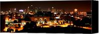 Kansas City Canvas Prints - Kansas City Lights Canvas Print by David Dunham