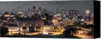 Summer Photo Canvas Prints - Kansas City Skyline Canvas Print by Ryan Heffron