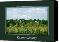 Contry Canvas Prints - Kansas Country Card Canvas Print by Jim  Darnall