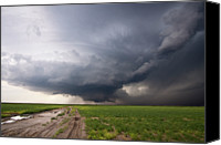 Puddle Canvas Prints - Kansas Distant Tornado Vortex 2 Canvas Print by Ryan McGinnis
