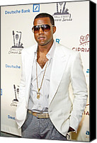 At Arrivals Canvas Prints - Kanye West At Arrivals For 2006 Canvas Print by Everett