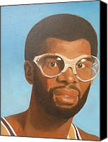 Los Angeles Lakers Canvas Prints - Kareem Canvas Print by Nigel Wynter