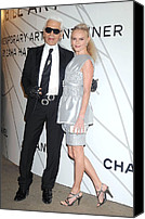 Fashion Designer Art Canvas Prints - Karl Lagerfeld, Kate Bosworth Wearing Canvas Print by Everett