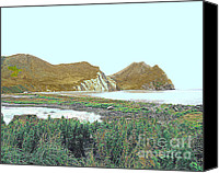 Kodiak Canvas Prints - Karluk River Outlet in Alaska Canvas Print by Merton Allen
