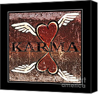 Sharing Canvas Prints - Karma Give Love Canvas Print by Tisha McGee