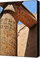 Middle East Canvas Prints - Karnak Temple Columns Canvas Print by Michelle McMahon