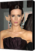 Lip Gloss Canvas Prints - Kate Beckinsale At Arrivals For 14th Canvas Print by Everett