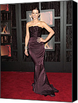 Satin Dress Canvas Prints - Kate Beckinsale Wearing A J. Mendel Canvas Print by Everett