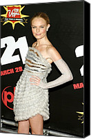 Long Gloves Canvas Prints - Kate Bosworth  Wearing A Chanel Couture Canvas Print by Everett