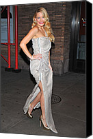 Exposed Canvas Prints - Kate Hudson Wearing Lanvin Gown Canvas Print by Everett