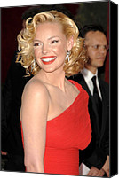 Academy Awards Oscars Canvas Prints - Katherine Heigl At Arrivals For Red Canvas Print by Everett