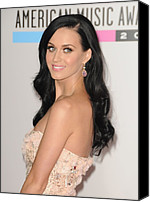 Nokia Theatre Canvas Prints - Katy Perry At Arrivals For The 37th Canvas Print by Everett