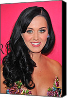 Wavy Hair Canvas Prints - Katy Perry At Arrivals For The Canvas Print by Everett