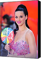 Appearance Canvas Prints - Katy Perry On Stage For Nbc Today Show Canvas Print by Everett