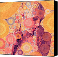 Featured Canvas Prints - Katya (strange Brew) Canvas Print by Bryon Paul Mccartney