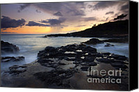 Storm Canvas Prints - Kauai Storm Passing Canvas Print by Mike  Dawson