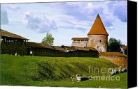 Castle Pyrography Canvas Prints - Kaunas castle Canvas Print by Arvydas Kantautas