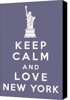 Keep Calm Canvas Prints - Keep Calm and Love New York Canvas Print by Nomad Art And  Design