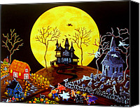 Haunted House Canvas Prints - Keep Running Canvas Print by Christine Altmann