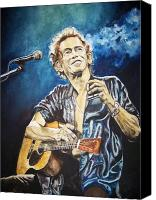The Rolling Stones Canvas Prints - Keith Richards Canvas Print by Lance Gebhardt