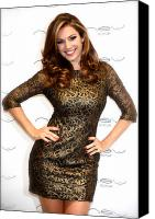 Kelly Canvas Prints - Kelly Brook 3 Canvas Print by Jez C Self
